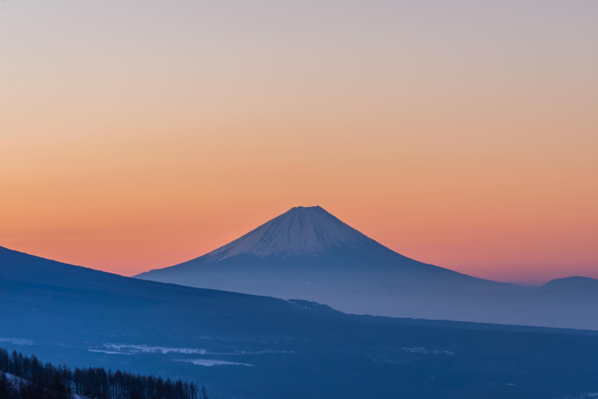 諏訪 朝日 富士山