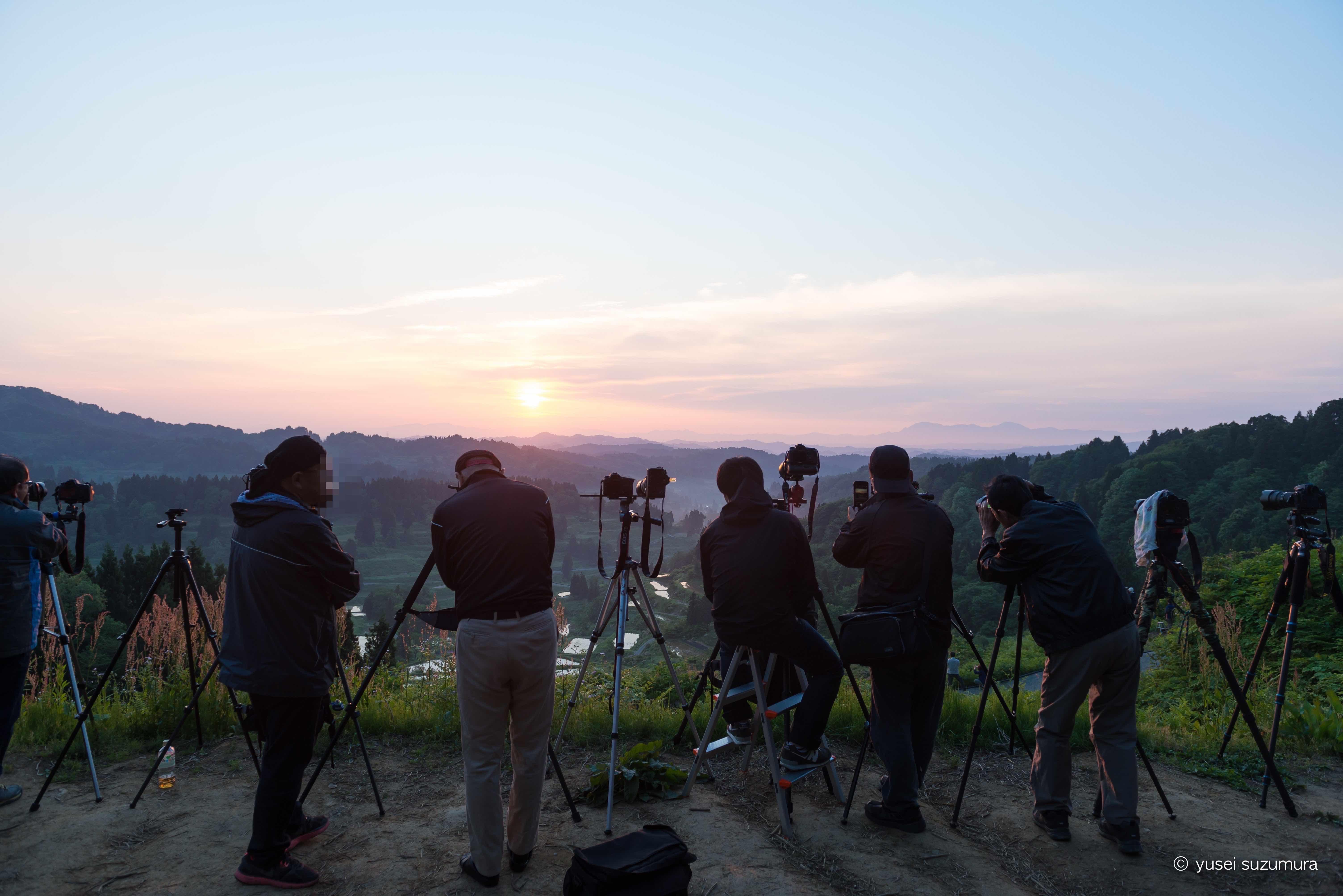 カメラマンでいっぱい!!星峠の棚田と美人林に行ってきた。