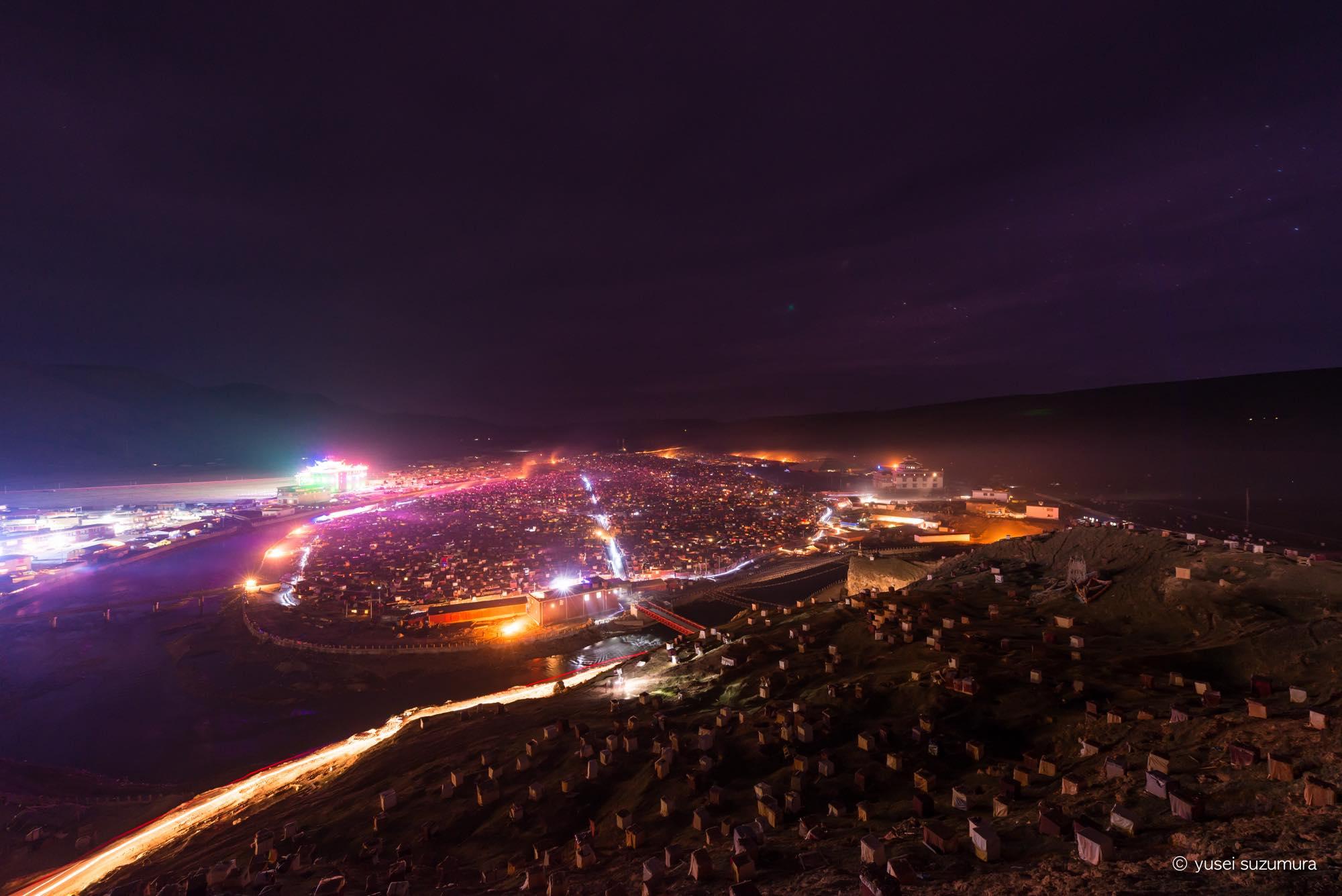 アチェンガルゴンパ 夜景