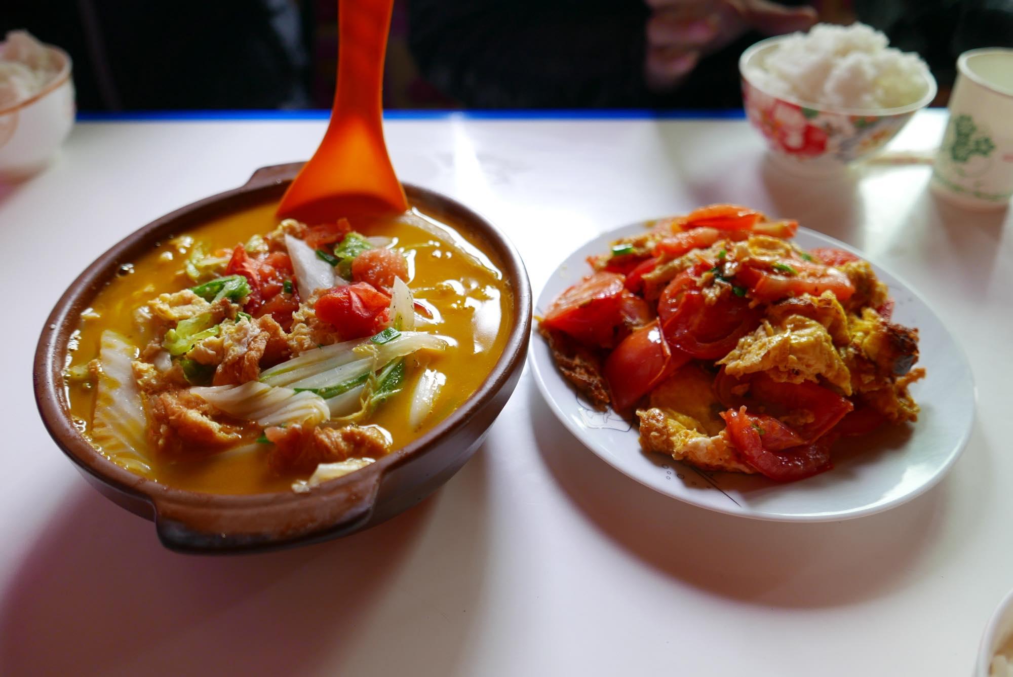 卵料理 アチェンガルゴンパ