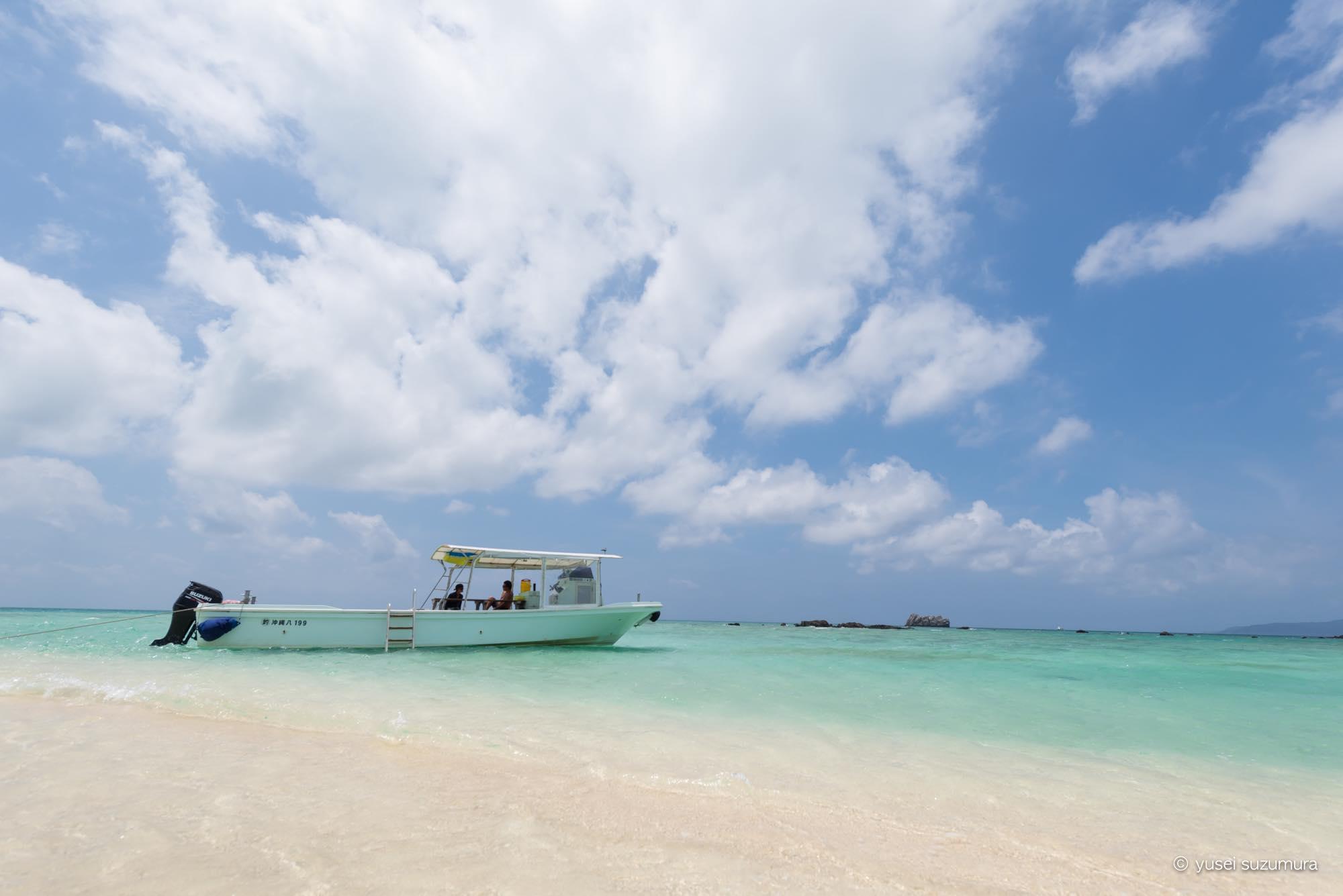 小浜島のトゥマールビーチと幻の島(浜島)とうふだき荘と。