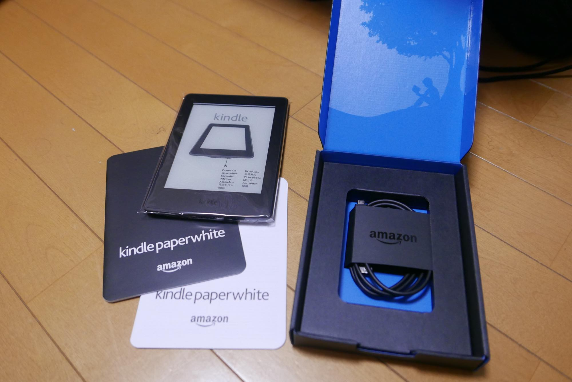 kindle paperwhite 開封