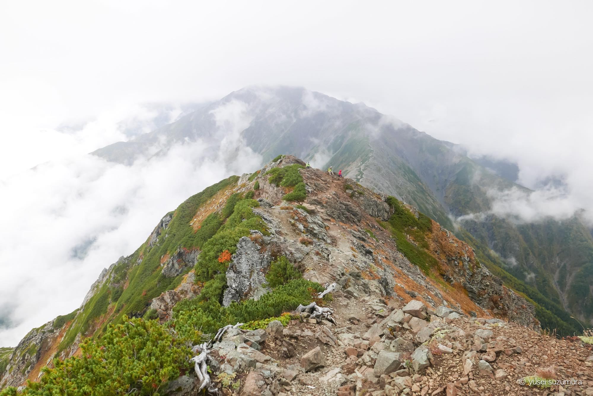 北岳から北岳山荘