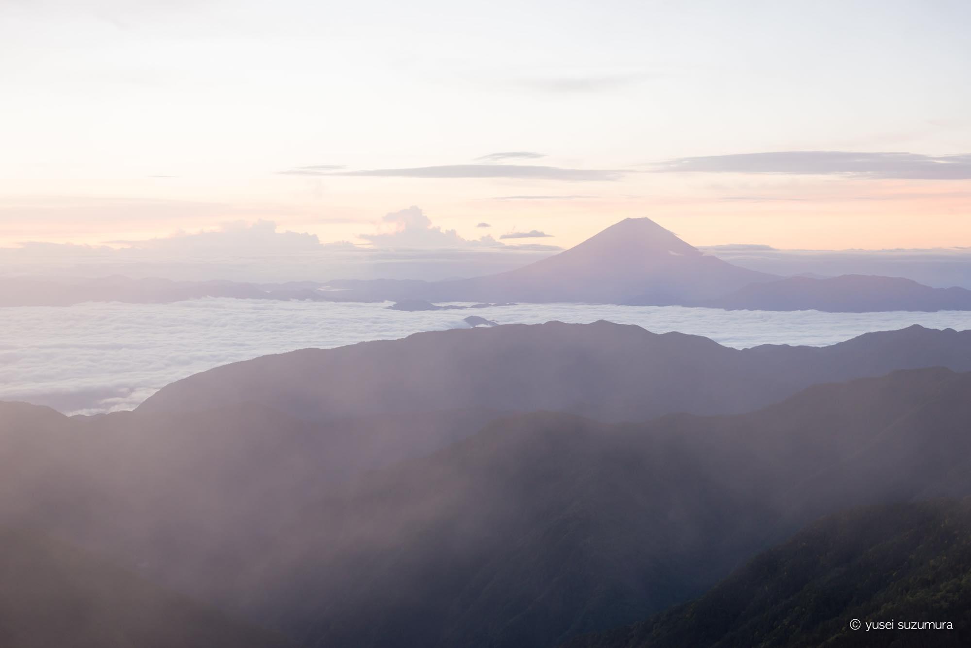 北岳山荘 富士山