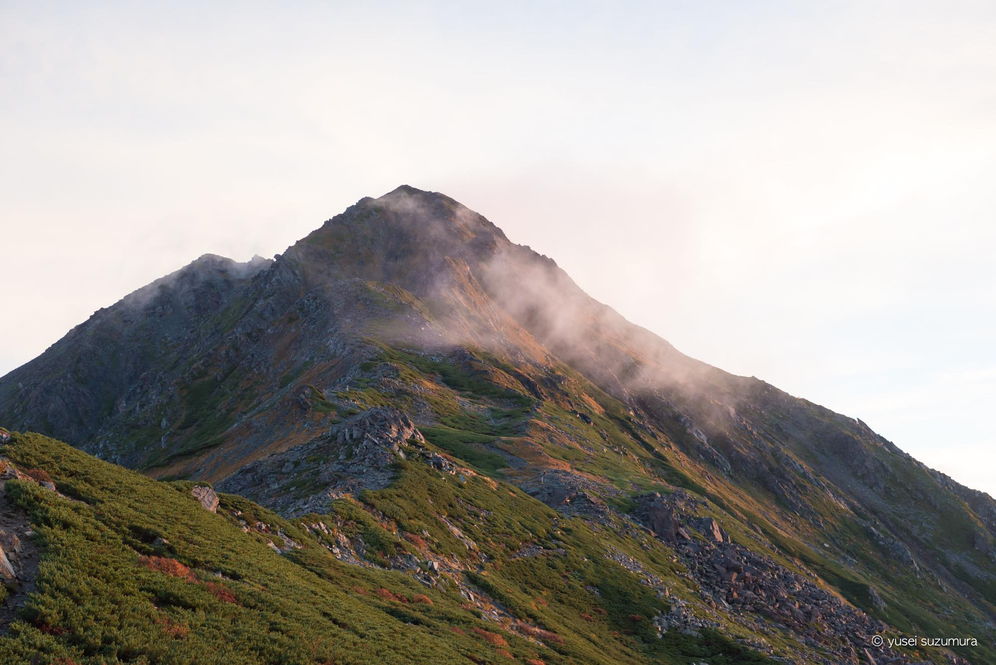 北岳山荘 登山道