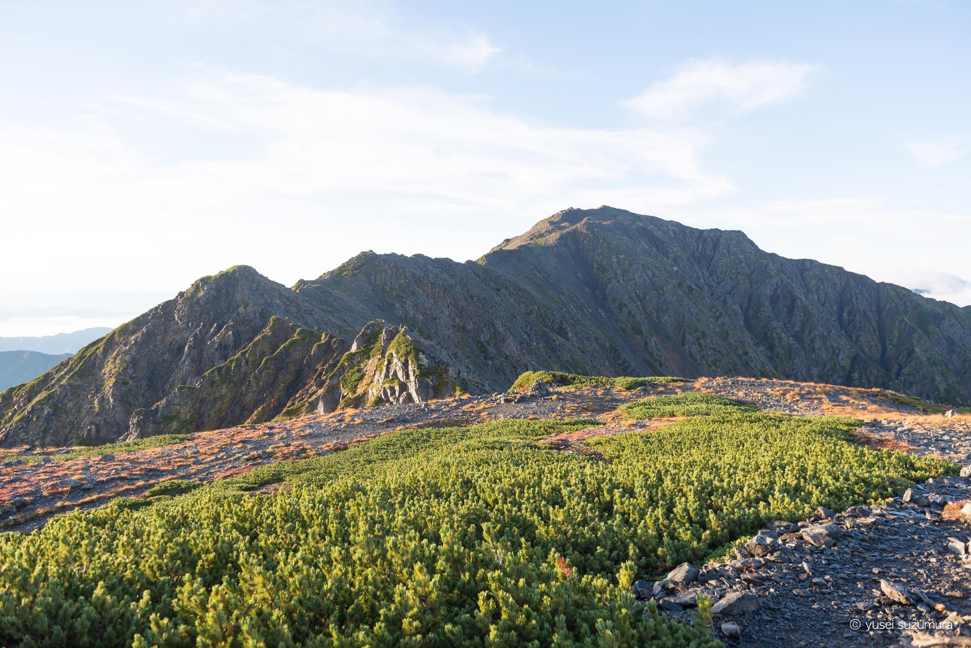 北岳への登山ルート