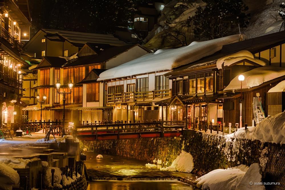 まるで大正時代にタイムスリップ!雪深き温泉地、銀山温泉に行ってきた。