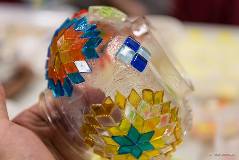 トルコ文化センターでモザイクトルコランプを作ってきました。