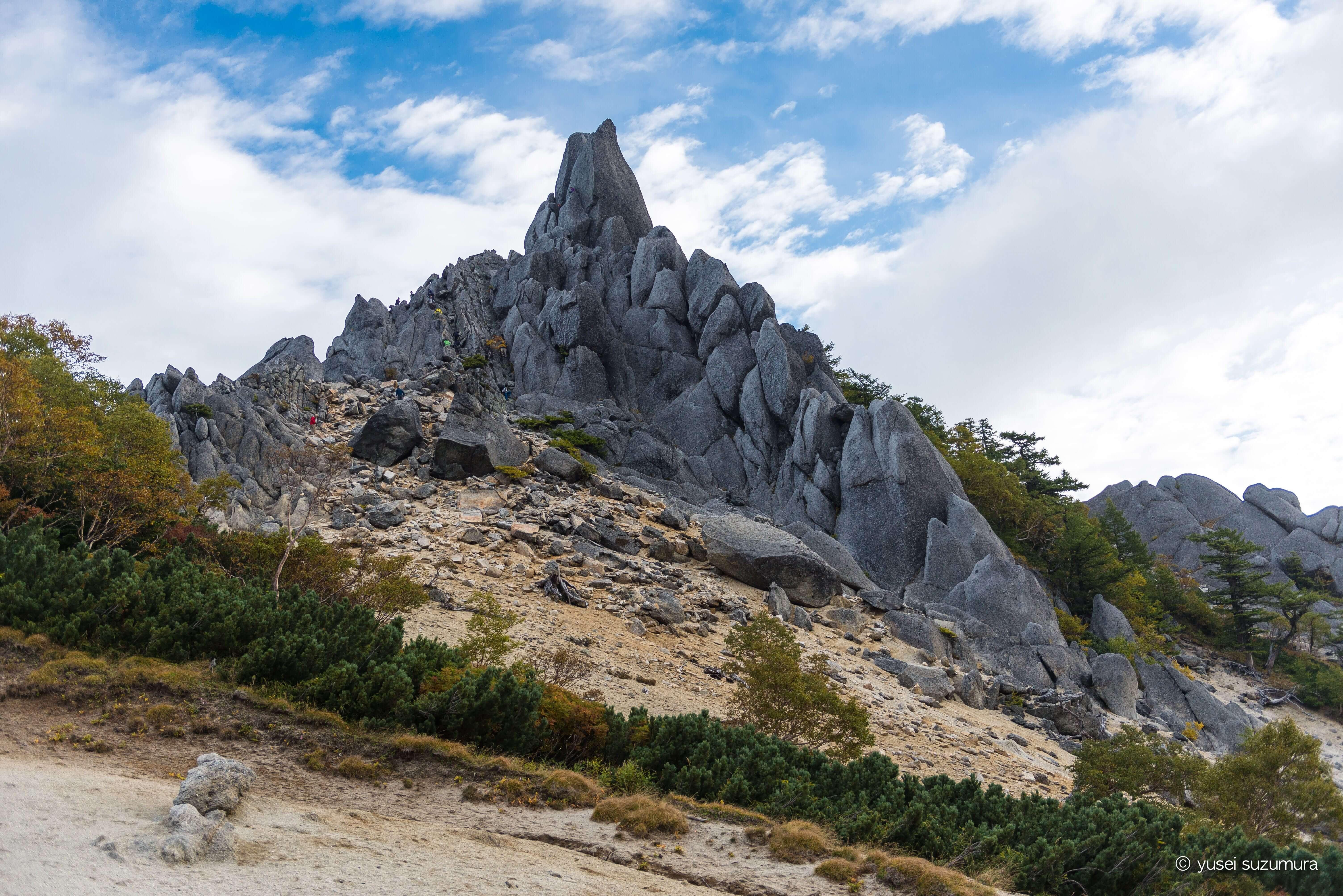 鳳凰三山の象徴、地蔵岳のオベリスクへ!御座石温泉から帰還!