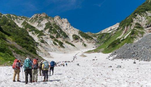 【白馬岳登山】猿倉荘から白馬大雪渓を登って白馬岳に登頂!